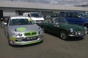 r 2015 062109 Old and new Martin MGs at Silverstone